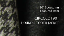 CIRCOLO1901 HOUND'S TOOTH CHECK JACKET