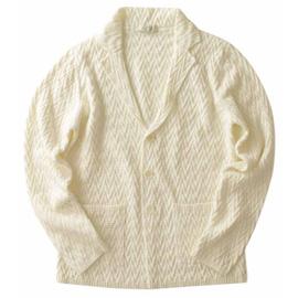 PANICALE(パニカーレ)のホワイトニットジャケット