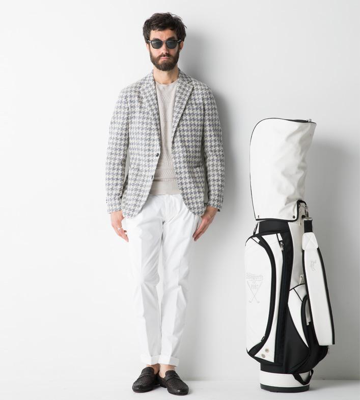 ジェンテ スタイル45 Golf Style_1 L.B.M.1911(エルビーエム1911)ジャケット,PANICALE(パニカーレ)ニット,BRIGLIA(ブリリア)パンツ