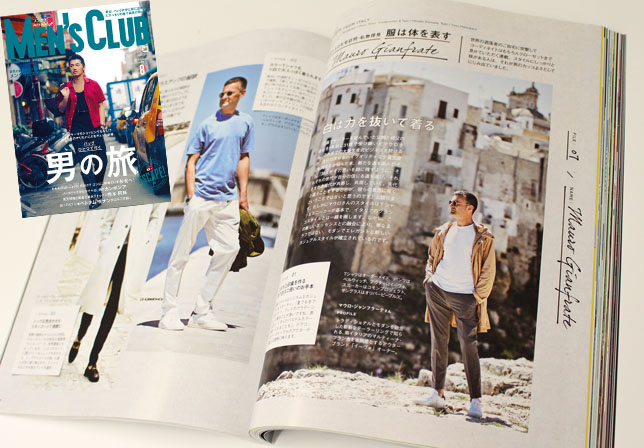 〈MEN'S CLUB 8月号〉 HEVO(イーヴォ)マウロ・ジャンフラーテ
