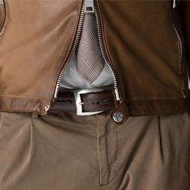 ジェンテ スタイル51 AUTUMN LEATHER STYLE,DELAN(デラン)レザージャケット,GIANNETTO(ジャンネット)シャツ,BRIGLIA(ブリリア)パンツ