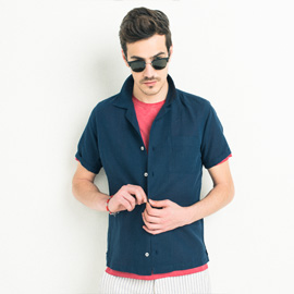 ジェンテ スタイル70 2018 SPRING_SUMMER GIANNETTO(ジャンネット)オープンカラーシャツとBRIGLIA(ブリリア)パンツのコーディネート_サブ画像1
