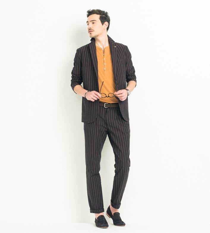 ジェンテ スタイル71 2018 SPRING_SUMMER GIANNETTO(ジャンネット)ジャケット、パンツのセットアップとCIRCOLO1901(チルコロ1901)のTシャツのコーディネート_メイン画像