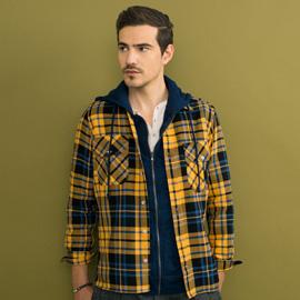 ジェンテ スタイル72 2018 AUTUMN_WINTER GIANNETTO(ジャンネット)のシャツ、SOUTHYARN(サウスヤーン)のスウェットパーカー、BRIGLIA(ブリリア)パンツのコーディネート_サブ画像1