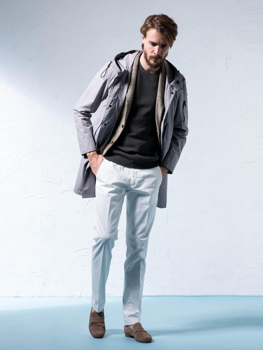 ジェンテ スタイル83 2019 SPRING_SUMMER DUNO(デュノ)のコートとCIRCOLO1901(チルコロ1901)のジャケットを中心にしたコーディネート_メイン画像