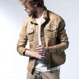ジェンテ スタイル84 2019 SPRING_SUMMER DELAN(デラン)のレザーシャツジャケットのスタイル_サブ画像1
